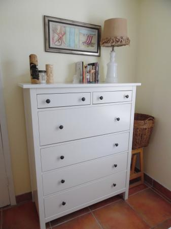Click to enlarge image Large dresser for your belongings - Palm Cottage - Old town cottage near historic downtown Port Aransas. Two bedrooms, one bath, small laundry, quaint and cute patio area. Dog Friendly