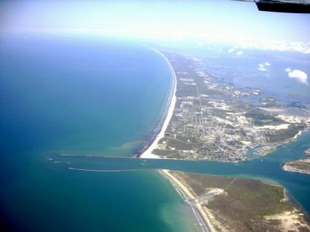 Click to enlarge image Arial view of the Aransas Pass ship channel. - BeeGee's Wahoo Quarters - One bedroom, one bath, LARGE condo with laundry, tile floors, Dog Friendly. Walk to beach