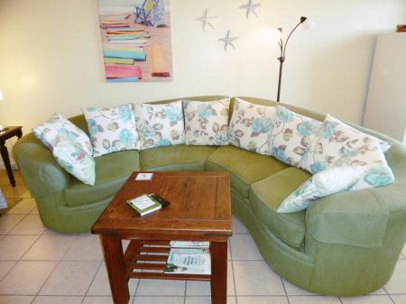 Click to enlarge image Large comfy sofa - Barefoot Dayz - Wonderful Studio Condo at Island Retreat